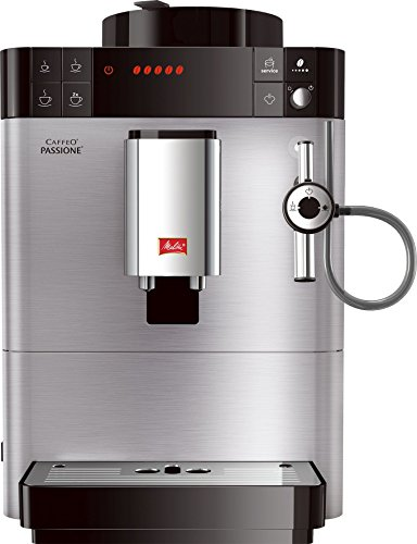 Melitta F54/0-100 Kaffeevollautomat Caffeo Passione, Cappuccinatore, Moderne EDELSTAHL-Front, Silber thumbnail