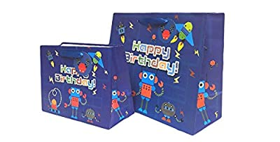 Happy Birrthday Robots Gift Bags & Tissue Paper Set