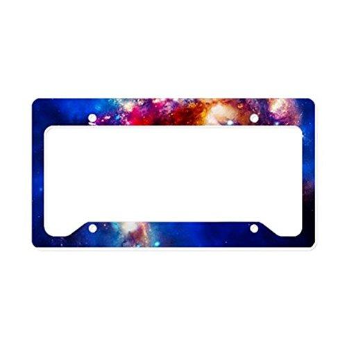 CafePress - Colorful Cosmos - Aluminum License Plate Frame, License Tag Holder (License Plate Frame Space compare prices)