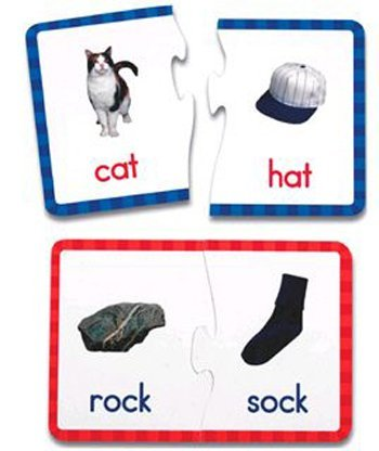 Rhyming Words Puzzle Cards with Photographs - 1