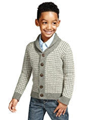 Autograph Y-Neck Houndstooth Cardigan with Modal