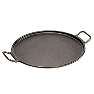 Lodge Pro-Logic P14P3 Cast Iron Pizza Pan, Black, 14-inch