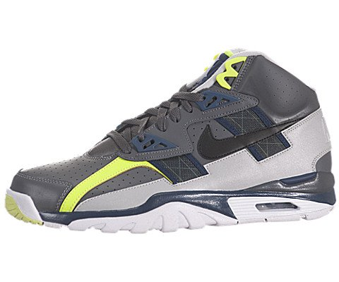 60a47828188c The Features Nike Men s NIKE AIR TRAINER SC HIGH TRAINING SHOES 11 Men US  DARK GREY BLK MID NVY NTRL GRY -