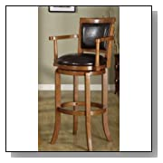Oak Finish Game Room Swivel Bar Stool