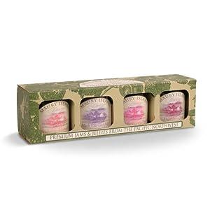 Gourmet Jam & Preserves 4-Jar Sampler Pack - 5.5 oz Jars - by Maury Island Farms (Pack of 2)