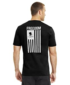 Under Armour Men's UA WWP Freedom Flag T-Shirt Large Black