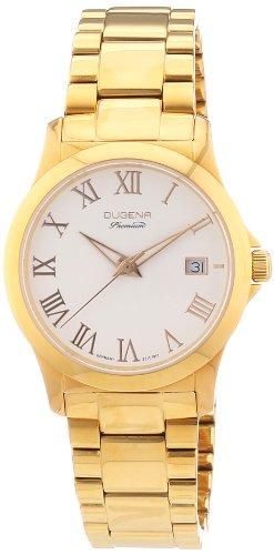 Dugena 7000109 - Reloj analógico de cuarzo para mujer con correa de acero inoxidable, color dorado