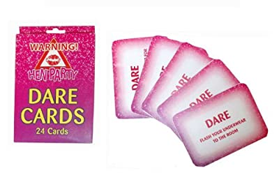 1 Pack of 24 Hen Party Dare Card Accessories