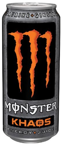 Monster Khaos Energy Plus Juice Can 500 ml (Pack of 12)