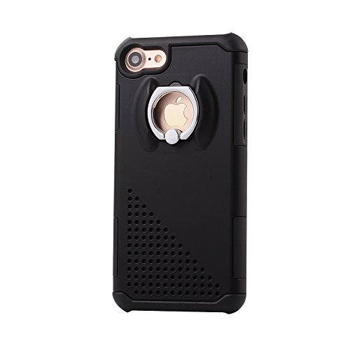 iPhone 6 Case, Firefish Protective Shockproof Ring Kickstand TPU Bumper 2 in 1 Ultra Armor Case Cover for Apple iPhone 6/6S(Not for 6 Plus/6S Plus) -Black (Clear 1 2 Bumpers compare prices)
