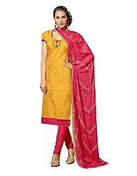 Fabgruh Beautiful Yellow Colours Dress Material FG-2DRG13012