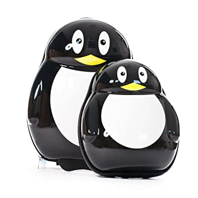 Skykidz Penguin 2 Piece Luggage Set (black)