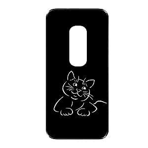 Vibhar printed case back cover for Motorola Moto G (3rd Gen) BlackCa