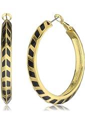 Vince Camuto Gold Chevron Hoop Earrings