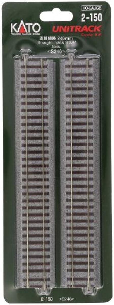 [해외] KATO HO게이지 직선 선로 246MM 4개입 2-150 철도 모형 용품-2-150