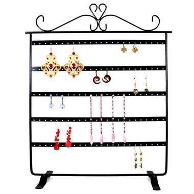 pr sentoir porte bijoux pour 60 paires de boucles d. Black Bedroom Furniture Sets. Home Design Ideas