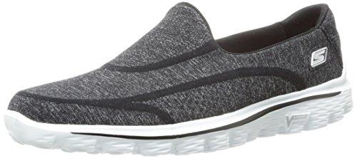 Skechers - GO Walk 2Super Sock, scarpe  da donna, nero(schwarz (bkw)), 38