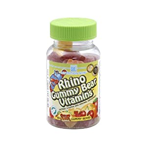 Rhino Chewy Vites-Sour Nutrition Now 60 Chewable