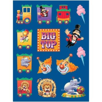 Creative Converting BB016309 Circus Party Sticker - 4-Pack - 1
