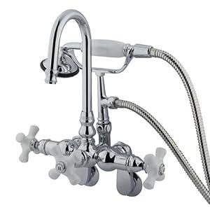 Kingston Brass CC308T1 Vintage Clawfoot Faucet Hi-Rise Spt