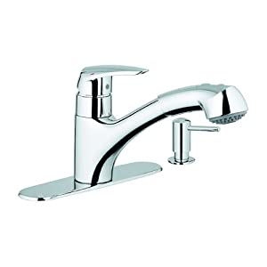 grohe 30127000 kitchen faucet with dual spray pull out