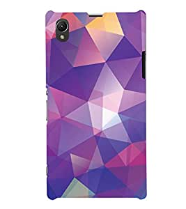 ColourCrust Sony Xperia Z1 Mobile Phone Back Cover With Abstract Art Pattern Style - Durable Matte Finish Hard Plastic Slim Case