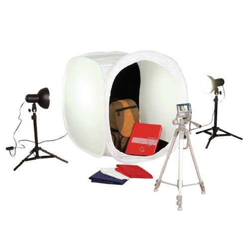 Square Perfect SP500 Platinum Photo Studio In A Box with 2 Light Tents & 8 Backgrounds For Product Photography