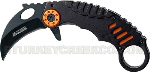 "Tf-620Or Karambit Spring Assist Folder Jhk95Moo High Ckrkegnz Carbon Steel 4.5"" Closed Orng Ajuiioptr 4567Fffg 567Ybghjk Karambit Folder. Spring 4Ab7C Assist Knife.All Black High Carbon Steel Blade. U.S.A Design. Xn6Ch Includes Pocket Clip 4.5"" Closed Ora"