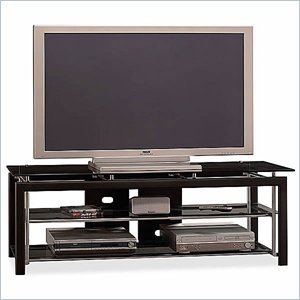 Cheap Bush Midnight Mist 60 Inch Wood TV Stand and Audio Rack Set (VS44850-AD44840)
