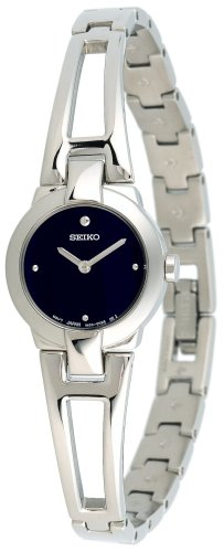 Seiko Women&#8217;s SUJ703 Dress Silver-Tone Bangle Watch