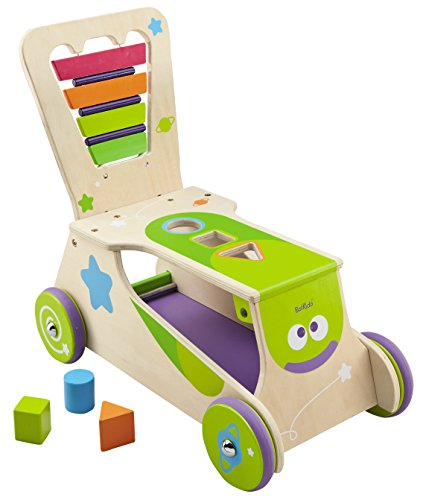 Boikido Wooden 2-in-1 Walker/Ride-on