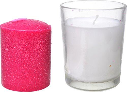 Auroshikha Votive Glass Candles With Refill (6.5 Cm X 5.5 Cm, White)