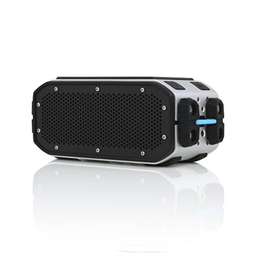 Braven BRV-Pro HD Outdoor Bluetooth Lautsprecher [Wasserdicht nach IPX7 | Akku zum Laden von Smartphones | 2.200mAh | 15 Stunden Musik-Wiedergabe | Mikrofon zum Freisprechen] - BPROSCB