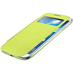 Amzer 96190 Flip Case with Swipe Window - Green for Samsung GALAXY S4 GT-I9500