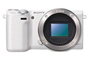 Sony NEX-5R/W 16.1 MP Compact Interchangeable Lens Digital Camera with 3-Inch LCD - Body Only (White)