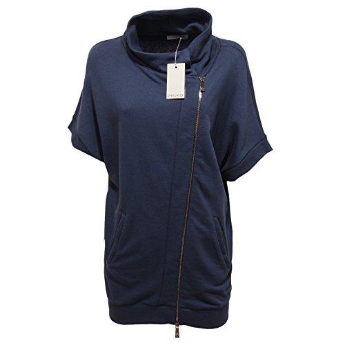 3234Q felpa donna PINKO ATENA blu manica corta sweatshirt short sleeve woman [S]