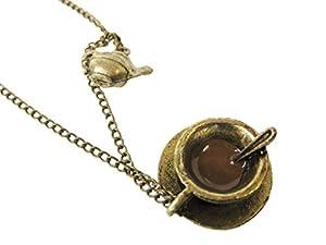 Alice in Wonderland Mini Teapot & Teacup Necklace