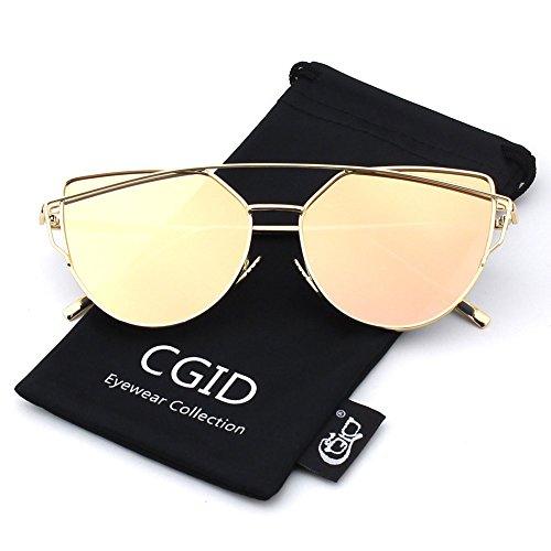 CGID-Mode-Polarisierte-Katzenaugen-Sonnenbrille-For-Damen-UV400-reflektierenden-Spiegel