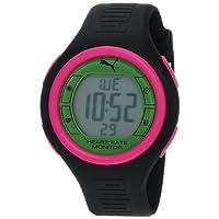 PUMA Women's PU910541015 Pulse Black and Green Digital Heart Rate Monitor Watch from PUMA