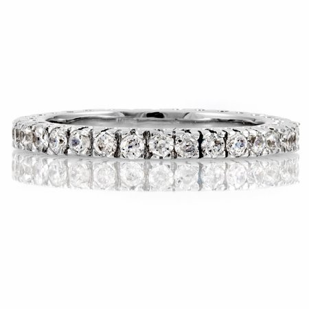 Selma's Thin Stackable CZ Cubic Zirconia Eternity Band Ring