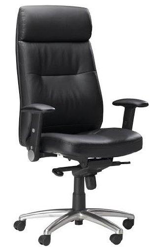 Mayline Leather Seating Series Pivot Arm Swivel/Tilt Chair