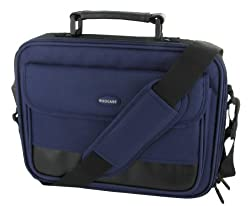 rooCASE Sony VAIO VPC-W211AX/L 10.1-Inch Blue Netbook Carrying Bag (Classic Series - Dark Blue / Black)