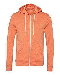 Alternative Men\'s Rocky Zip Hoodie Sweatshirt, Eco True Orange, Medium