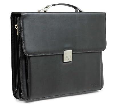 Thierry Mugler Designer Triple Gusset 42cm Leather Look Brief Case