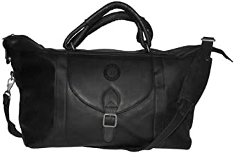 MLB Oakland Athletics Black Leather Top Zip Travel Bag by Pangea Brands