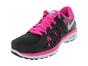 Nike Women's Dual Fusion Run 2 Blk/Mtllc Slvr/Arnry Slt/Pnk F Running Shoes 8 Women US