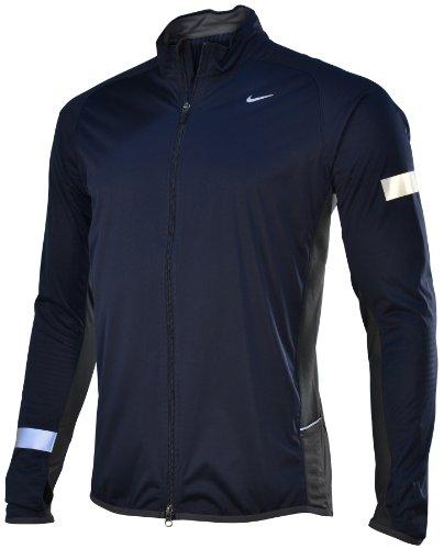 Nike NIKE Men's Element Shield Running Jacket-Navy-Medium
