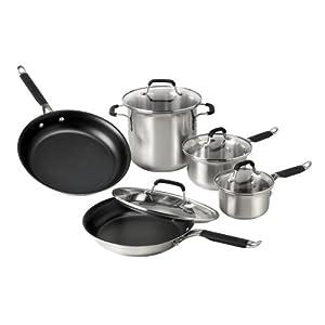 Kitchen Essentials Calphalon Stainless Steel 9 Piece Ebay