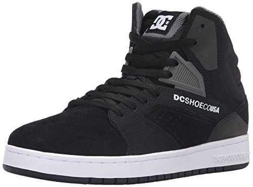 DC Men's Seneca High Skate Shoe, Black, 13 M US