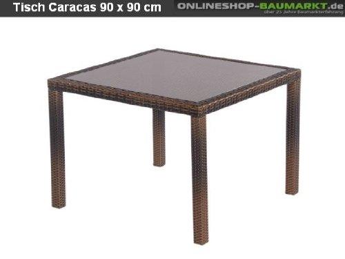 Sunny Smart Tisch Caracas choco Alu – Geflecht günstig